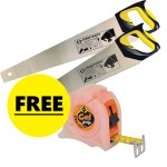 Twin Pack Saws with free Tape Measure £24.99